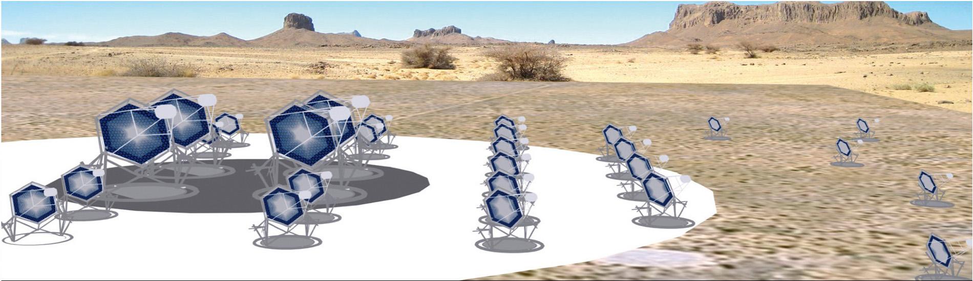 Проектна схема черенковських телескопів